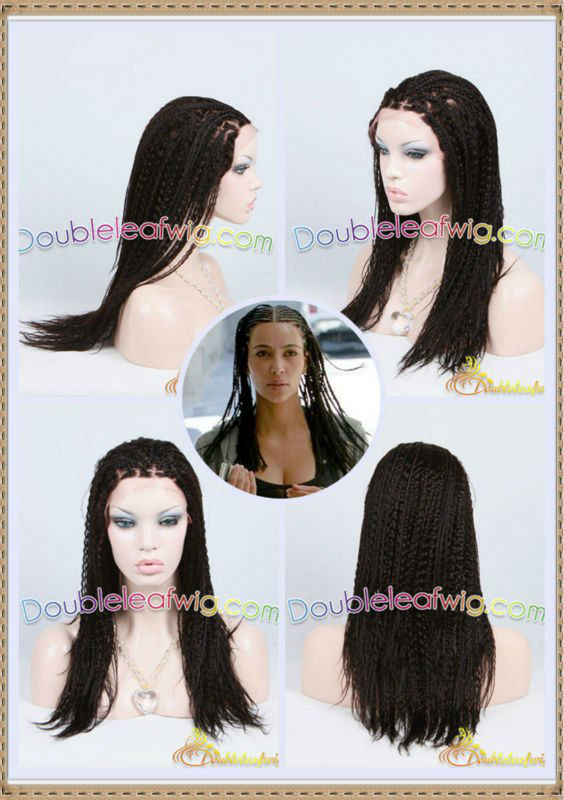 Braided lace wig for african american