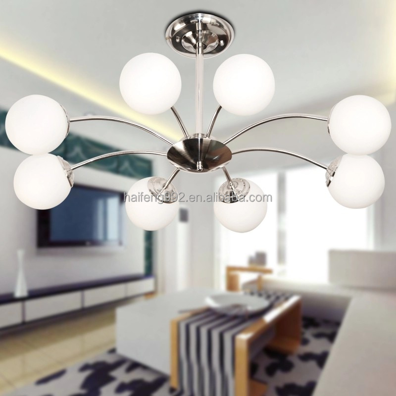 5 head chrome color iron pendant light MD83350 chandelier