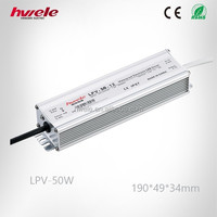 LPV-50W ac to dc 12V/24v LED transformer/electronic LED driver/switch mode power supply