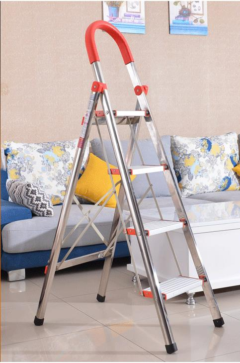 RFY-WS04 Home or Industrial folding aluminum ladder price,aluminum trolley step ladder