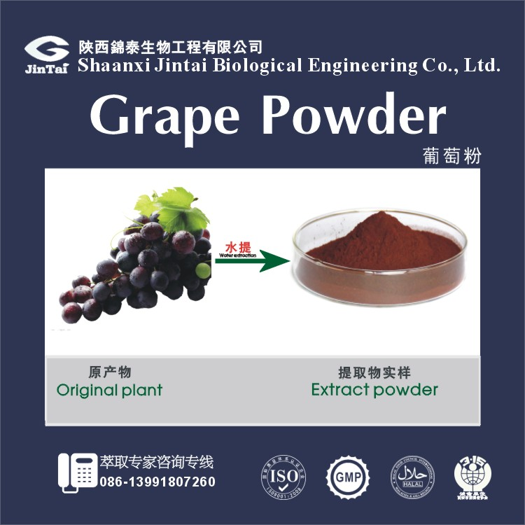100% water soluble grape seed extract concentrate powder