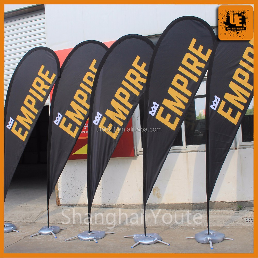 Any Size Custom Brand Logo Feather Teardrop Square Polyester Print Knife Flag Show Flag Display <strong>Advertising</strong>