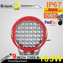 "Promotion price!!! 9inch 185w led driving light round 9"" 5w Crees auto led driving light 4X4 led work driving light 12V"