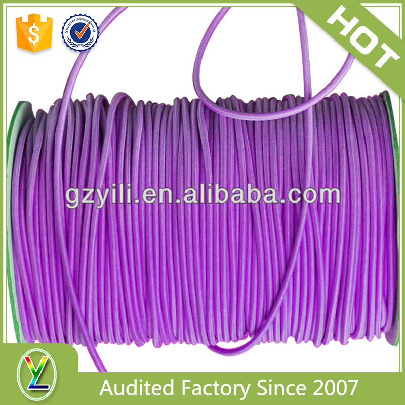 Superior quality 2mm waxed polyester elastic string