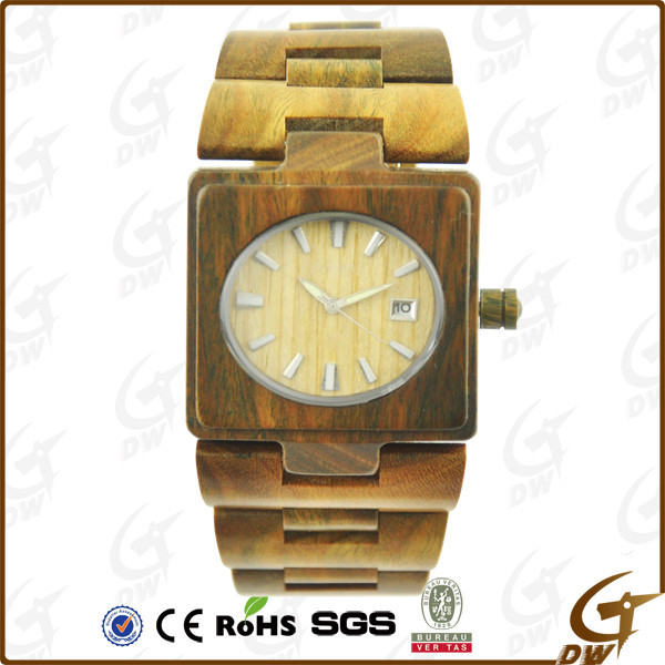 China most popular bamboo wood materal vintage watch