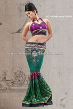 Patch Work Pallu designs Net sarees