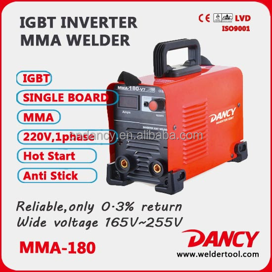 hot sale manual metal mma inverter dc igbt small portable arc high quality 220v welding machine