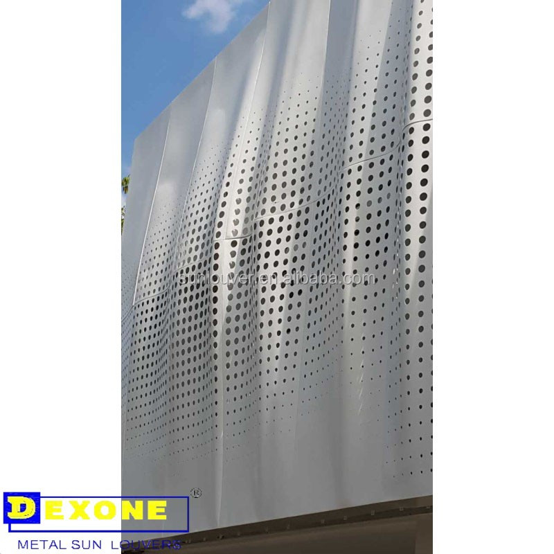 Metal Architectural Screen Wall : Prefabricated perforated metal architectural screens