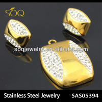 SAS05394 Wholesale gold plated stainless steel imitation jewelry