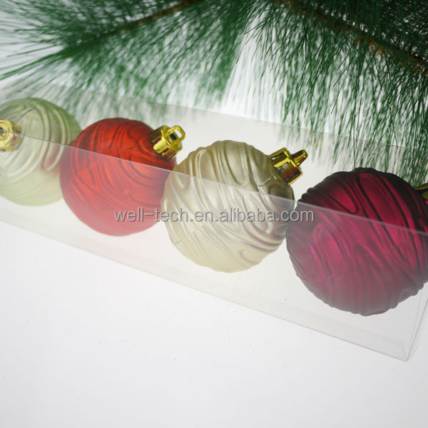 2014 Hot item! 60mm Christmas Plastic Ball Set Christmas ornament