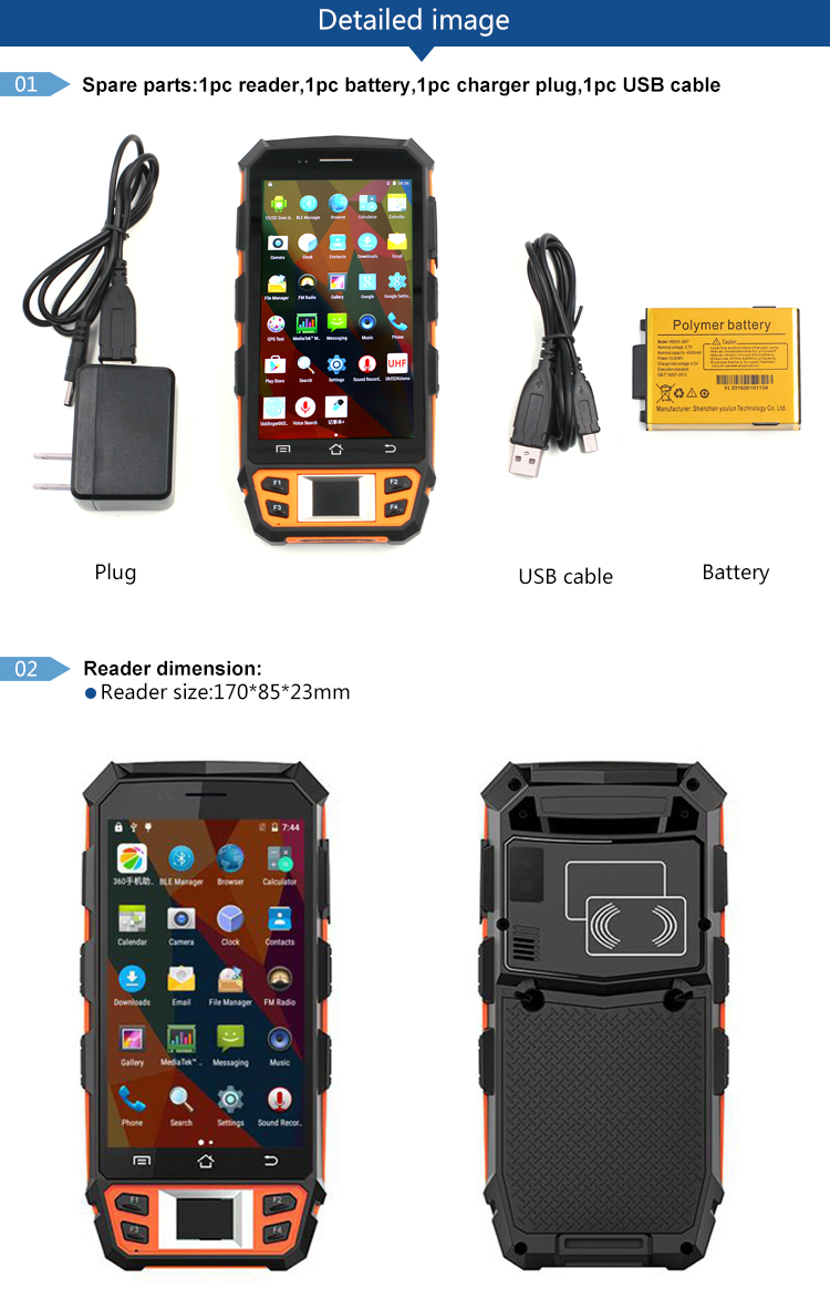 inventory checking cheap uhf handheld android pda rfid reader