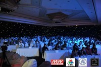 3*9m black/white RGB tri-color and fireproof led wedding backgrounds