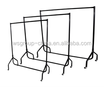 Heavy duty garment clothes dress hanging rail rack display