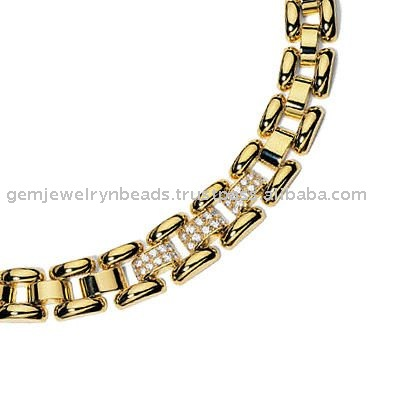 Costume Exclusive Unique Diamond Necklace 18k Yellow Gold Jewelry Wedding Jewellery for Girls and Women