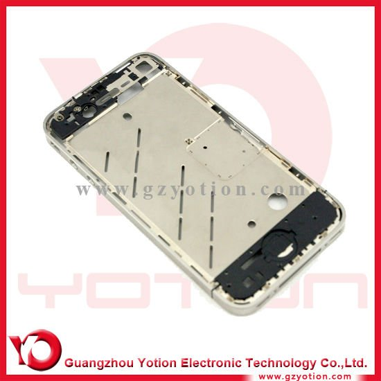 Set diamond Bezel Mid Frame Middle Chassis Housing Plate for iPhone 4