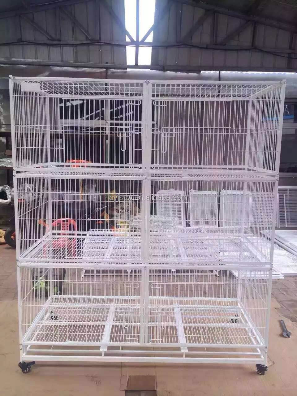 Wire Cat Boarding Cage For Cat Show