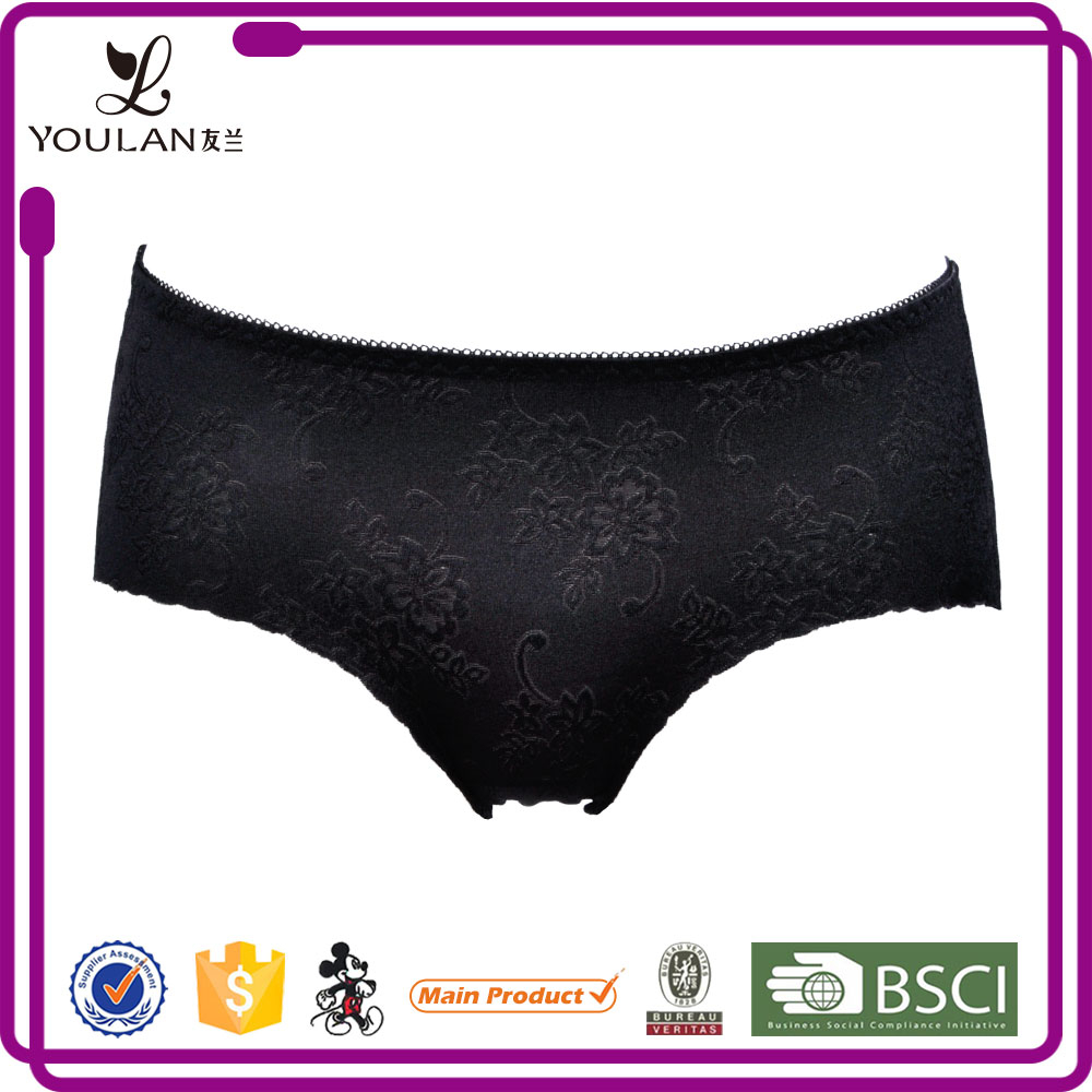 Latest Popular Young Women High Cut ladies girdle bound panty