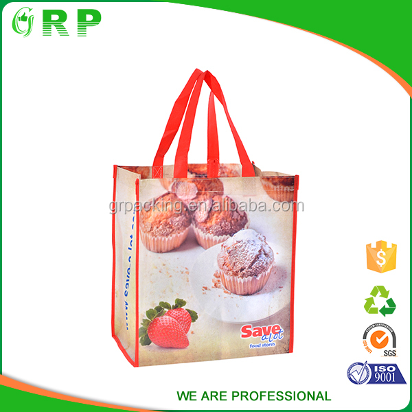 Standard size pp material custom design folding pp foldable non woven bag