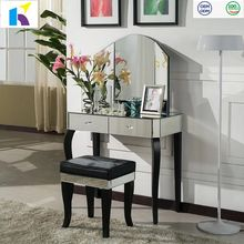 Jingshijie hot sale modern dressing table mirrored furniture
