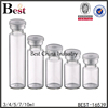 transparent amber injection glass vial crimp cap made in china