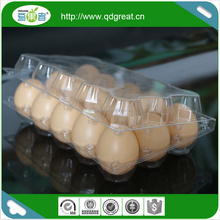 Transparent Pet Egg tray 15 Eggs tray
