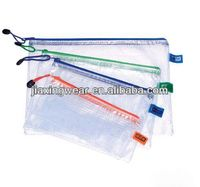 Hot sales plastic pvc mesh zipper bag for shopping and promotiom,good quality fast delivery