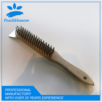Cheap Wooden Handle Scratch Wire Brush Stainless Steel Wire Brush