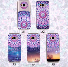 Wholesale clear mandala printing soft TPU Case For S8 S8 PLUS