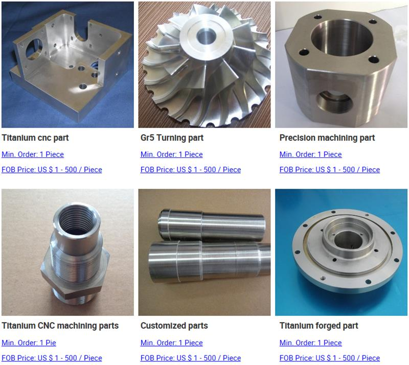 titanium cnc machining parts for Russia