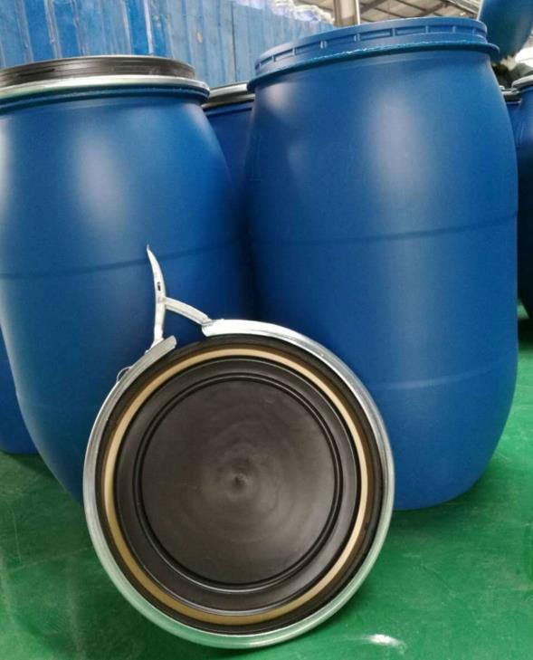 60L round metal barrel /drum/bucket with ring lock and lid for oil paint