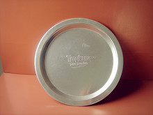 CCKT-202 2014 Best promotion Barware Circle Aluminum serving tray with embossing logo