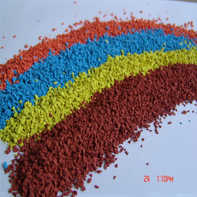 orange EPDM rubber Granules for Playgrounds Surfaces