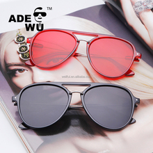 ADE WU Luxury Italian Brand fashionable Sunglasses 2018 oversize retro meatl Sun Glasses