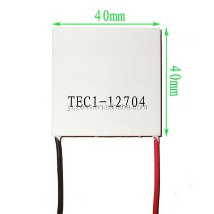 TEC1-12704 12V 4A 40*40MM Heatsink Thermoelectric Cooler Cooling Peltier Plate