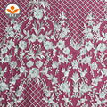 Fashion 3D flora application cotton mesh embroidery lace fabric