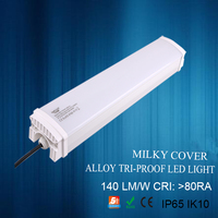 Aluminum outdoor ip65 tri-proof led light pc cover water-proof light