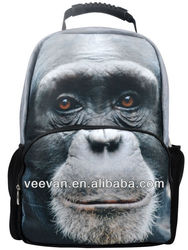 plush monkey 3d animal backpack , funny school backpacks for teenagers at low price