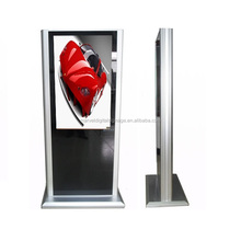 46 inch interactive standing lcd double side advertising display