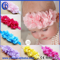 sequin head band kids elastic headbands blue flower make kids headband