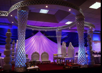 Royal New Plazzo Crystal Mandap Set (Crystal Wedding Mandaps & Decorations by Classic Silvocrafts India)