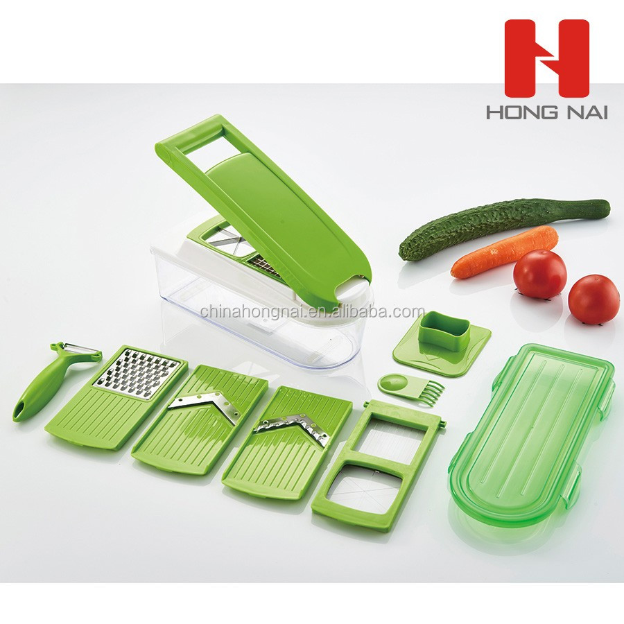 manual plastic home vegetable shredder 10 in 1 set
