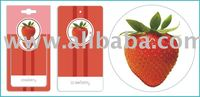 Strawberry Car Home Paper Hanging Air Freshener