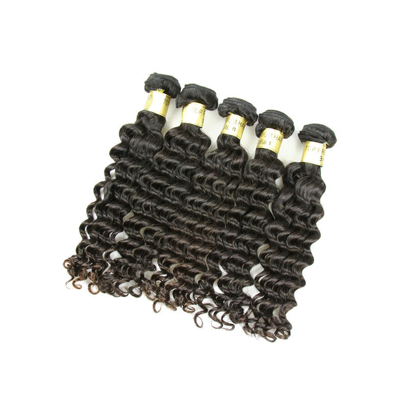 Healthy virgin wholesale hair extension, deep wave Malaysian human hair