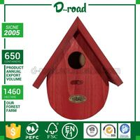 Simple Style Custom Shape Printed White Wooden Bird Cage Accessories