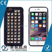 OEM/ODM fashionable rivet case for iphone 6 6plus soft tpu leather clinch phone cover case for iphone 6 6plus with high-quality