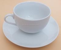 300cc ceramic cup&saucer porcelain item tea cup and saucer customized logo coffee cup and saucer