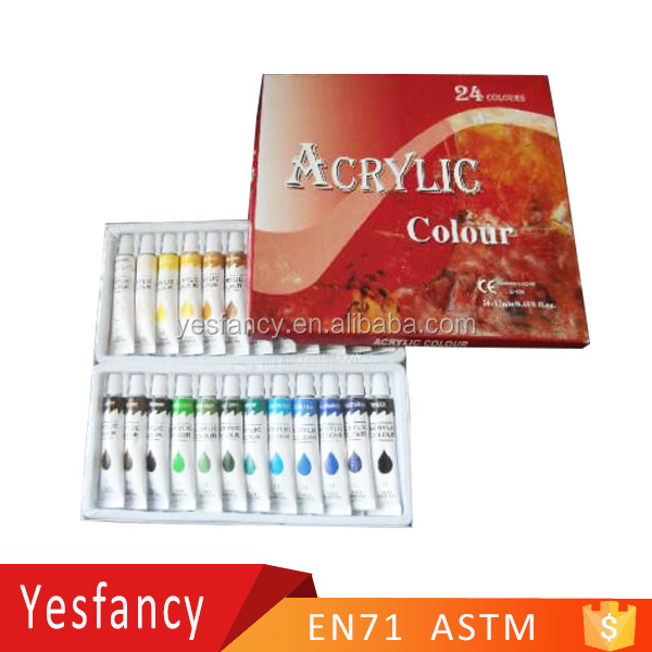 professional 24colors acrylic paint price philippines 12ml acrylic tube