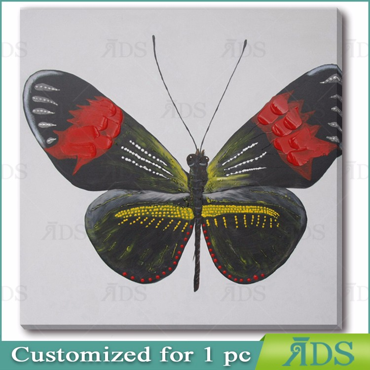Wall Decorative Handmade Butterfly Oil Painting