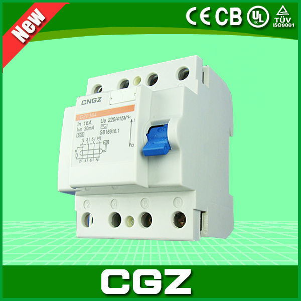 hot sale 2/4p rcbo elcb electrical miniature circuit breaker with lowest price