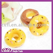 Cute yellow sweet donut flat back resin cabochons decorations for children's gift